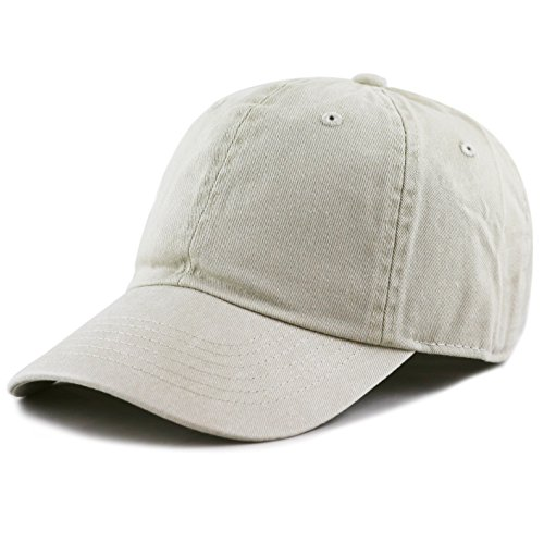 The Hat Depot 100% Cotton Pigment Dyed Low Profile Six Panel Cap Hat (Sand)