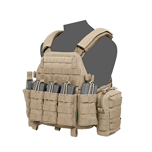 Warrior DCS DA M4 5.56mm Plate Carrier Coyote, L, Coyote