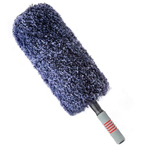 Jingyinyi Auto schorpioen huisstofmijt stof veer stofzuiger auto wassen mop doet geen pijn auto artefact anti-haak draad auto borstel Grijs
