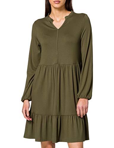 edc by ESPRIT Damen 021CC1E306 Kleid, 350/KHAKI Green, S