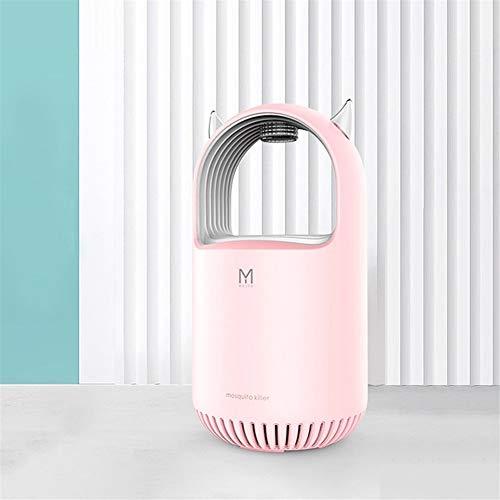 LVYI Tueur de Moustique USB photocatalyse LED Intérieur Maison Mute Mosquito Lampe de Charge Anti-Moustique Anti-Moustique Voler (Color : Pink)