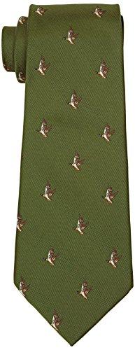 Bisley Flying Ducks Polyester Tie - Shooting and hunting - Handmade