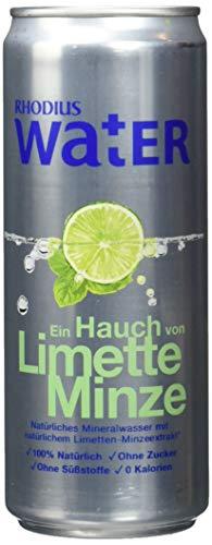 RHODIUS Water Ein Hauch von Limette Minze, 24er Pack, (24 x 330 ml)