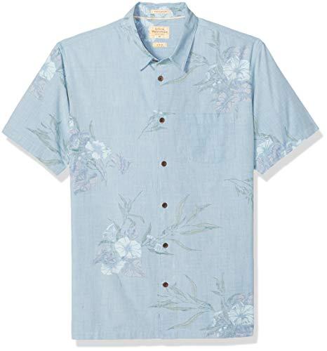 Quiksilver Waterman Men's LONINUM Button Down Shirt, Parisian Blue LONIUM, L