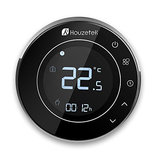 Termostato Wifi, Houzetek Termostato Inteligente Programable con Sensor para Control de APP Inteligente, Termostato Wifi Calefacción Electricidad con Control Remoto para Bajo Consumo