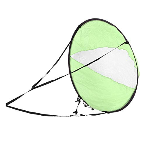 FOLOSAFENAR Tafetán de poliéster fácil de Montar con Vela Plegable de Ventana Transparente, para Kayak(Green, Kayak Sailing Sail)