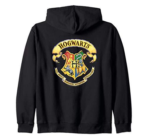 Harry Potter Rendered Hogwarts Crest Zip Hoodie
