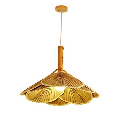 Lámparas Colgantes Lámparas De La Vendimia Hecha A Mano Que Cuelga De Bambú De La Personalidad Creativa Del Ventilador E27 Lámpara De Techo Ajustable Habitación Restaurante Café Araña De Habitación