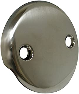 Jones Stephens Brushed Nickel Two-Hole Waste and Overflow Faceplate- Pack of 5