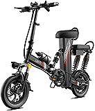 Bicicleta eléctrica Bicicleta eléctrica por la Mon 350W 12 Pulgadas de montaña de la Bicicleta eléctrica for los Adultos, la batería de Acero al Carbono de Alta Scooter eléctrico Engranaje E-Bici con