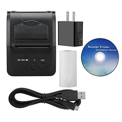 5809LN Portatil Mini Impresora Térmica Bluetooth para iOS/Android/Window, Impresora de Bolsillo Inalámbrica Bluetooth 2.0/4.0 WiFi USB | Impresión Rápida, Clara y Estable(EU)