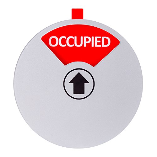 Kichwit Privacy Sign for Offices or Homes - Do Not Disturb Sign, Restroom Sign, Office Sign, Conference Sign, Vacant Sign, Occupied Sign - Tells Whether Rooms are Vacant or Occupied, 5 Inch, Silver Photo #5