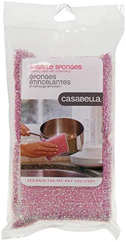 Casabella Scrub Sponge - Pink - 2 ct