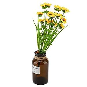 Artificial Plants,16.5″ Fake Daisy Flower Bouquet Green Bushes Artificial Shrubs Greenery Silk Flower for Wedding Garden Office Verandah Home Decor