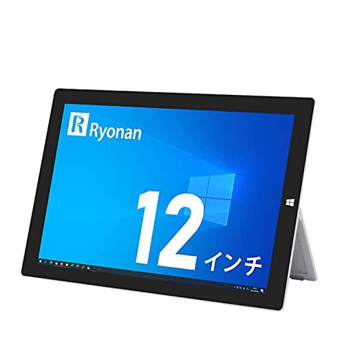 マイクロソフト Surface Pro 3 12インチ タブレットPC 第4世代Core i5-4300U メモリ:4GB SSD:128GB タッチパレル 高解像度(2160x1440) Windows 10 Office カメラ Ryonan (整備済み品)