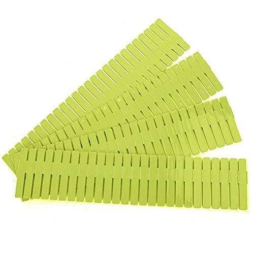 AniU - Divisores de cajones ajustables para cajones, divisores de cajón, contenedor separador para ropa interior, calcetines, ropa, suministros de oficina, color verde