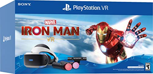 Newest Playstation VR Marvel's Iron Man VR Bundle, Compatible with PS4 & PS5: VR Headset, Camera, Move Motion Controllers, Iron Man + Marxsol PS4 Controller Fast Charging Dock