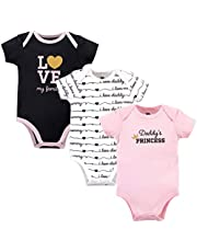 Hudson Baby Unisex Bodysuits 3pk, Daddy's Princess