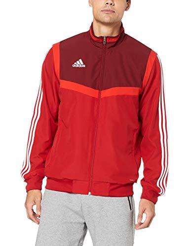 adidas Herren TIRO19 PRE JKT Sport Jacket, Power red/Collegiate Burgundy/White, L