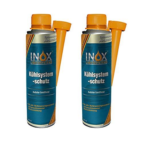 INOX Aditivo de protección del Sistema de refrigeración, 2 x 250ml - Aditivo de protección del radiador Adecuado para Todos los Motores de combustión con Sistema de refrigeración de Agua
