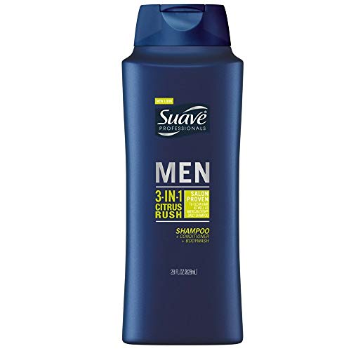 Suave Hair and Body Citrus Rush 3-in-1 Shampoo/Conditioner/Body Wash, 28 Ounce - 4 per case
