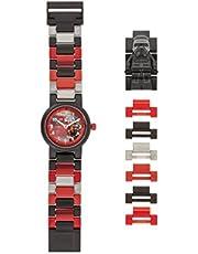 LEGO Star Wars 8020998 Orologio da polso componibile per bambini con cinturino a maglie e minifigure Kylo Ren