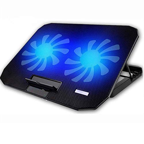 Wghz 10-15.6' Office Laptop Cooling Pad, Double Sides Built-in USB Line, Back Feet Stand