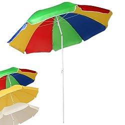 Miadomodo Wasserabweisender Sonnenschirm Strhandscirm Sonnenschutz Schirm mit Knickgelenk höhenverstellbar mit Größen- und Farbwahl
