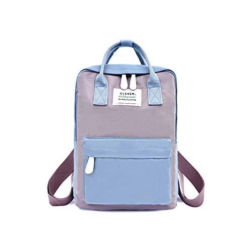 NICOLE & DORIS Rucksack für Damen Handtaschen Lässiger wasserdichte Rucksack Mädchen Schulrucksack für Laptop Blau