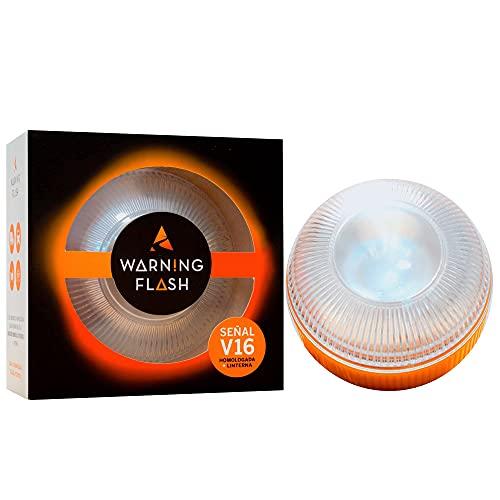 WARNING FLASH - Luz V16 Homologada DGT - Luz Emergencia autónoma [Visible 1KM] + Función Linterna