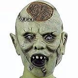 Máscara de látex de zombi, para Halloween, disfraz de terror