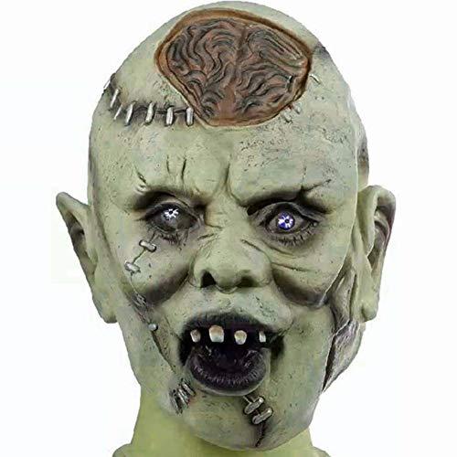 Zombie Maske aus Latex Halloween Zombiemaske Kostüm Horror Verkleidung Grusel Vollkopf