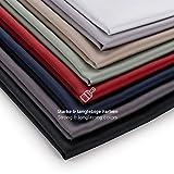 Blumtal Mako Satin Bettwäsche 155x220 cm mit Kissenbezug 40 x 80 cm - 100% Baumwolle, Superweiches Bettbezug Set Dunkel Grau, Anthracite - 5