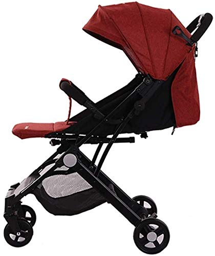 Great Price! Baby Strollers Can Sit and Lie Down and Fold for One Button Seconds 3 Colors Available,...