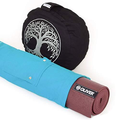 OLIVER Yogistar - Esterilla de yoga con cojín de meditación