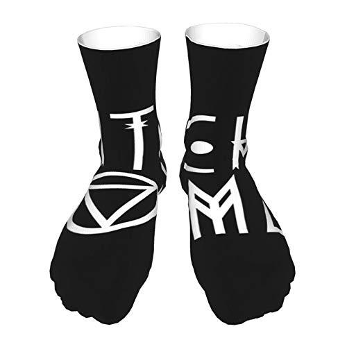 Socken für Erwachsene, Baumwolle, lange Strümpfe, schwarzer Absatz, dicke Socken, warme Socken, Unisex, 40 cm, Hexenfrau