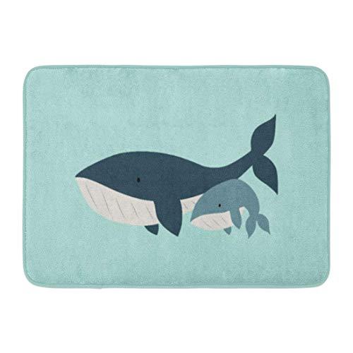 AoLismini Tapis de Bain Ocean Mama Whale pour bébé Aqua Sea Life Enfant Enfants Tapis de Bain Décor