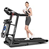 SYTIRY Treadmill,3.25Hp Home Folding Treadmill, Treadmill with Multifunctional Massage Head, Aerobic Fitness Trainer for Waist, Legs and Neck, Running Machine Suitable for Home/Office