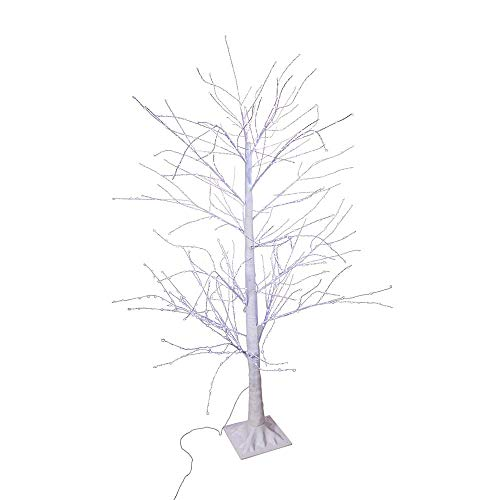 Kurt S. Adler 5-Foot Winter Twig 900 Cool White Lights Christmas Tree, Multi