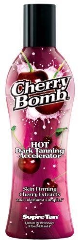 Supre Tan Cherry Bomb Hot Dark Tanning Maximiser with Skin Firming Cherry Extracts 235ml