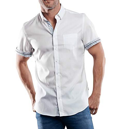 engbers Herren 100% bügelfreies Hemd, 29452, Weiß in Größe L