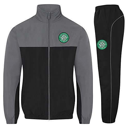 Celtic FC Official Soccer Gift Mens Jacket & Pants Tracksuit Set Grey XXL