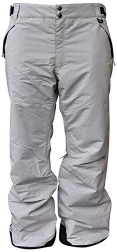 Snow Country Outerwear Mens Big and Tall Snow Ski Skiing Insulated Technical Pants (5X Big, Light Grey)