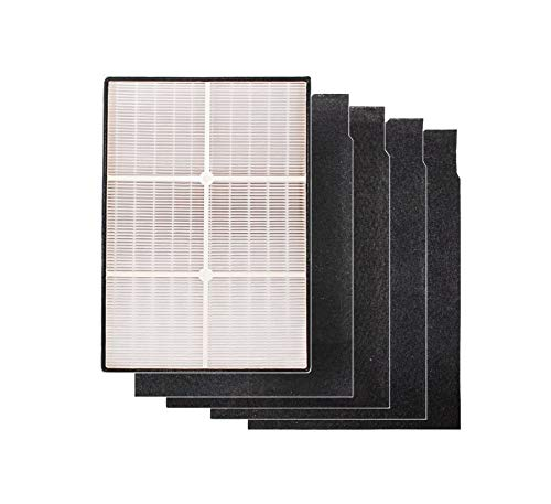 LifeSupplyUSATrue HEPA Filter and 4 Carbon Pre-Filters Compatible with Whirlpool Whispure Air Purifier AP150 AP250 Sears Kenmore 83353, 83374 83234 SMALL 1183051 k 817433 k