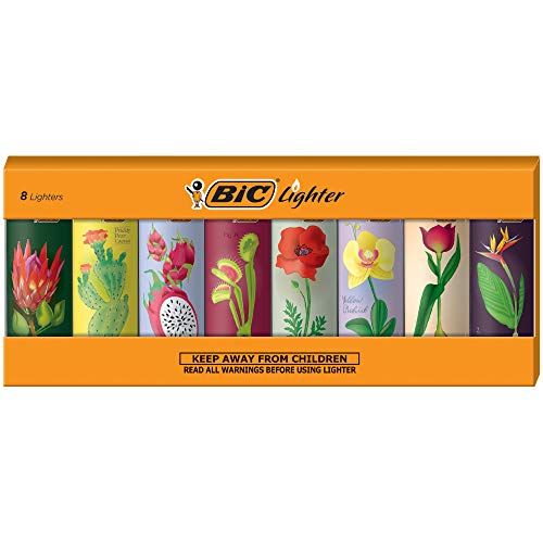 BIC Special Edition Botanical Series Lighters, Set of 8 Lighters