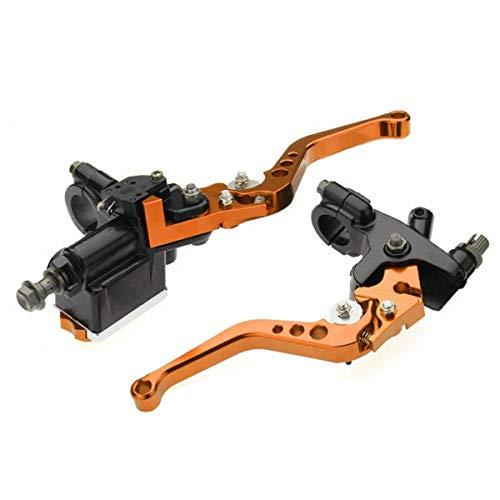 Paar 7/8 Motorrem Master Cilinder Koppeling Reservoir Levers Universele Motorfiets onderdelen te koop