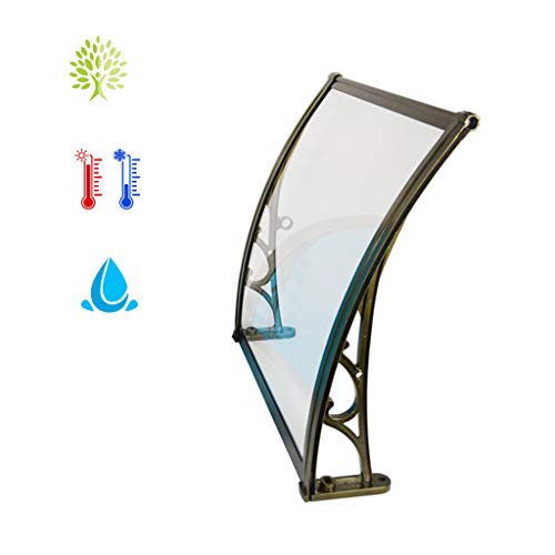 Luifel regen schuilplaats/deur luifel veranda schuilplaats, PC polycarbonaat venster luifels cover, voor voordeur veranda - 3 maten