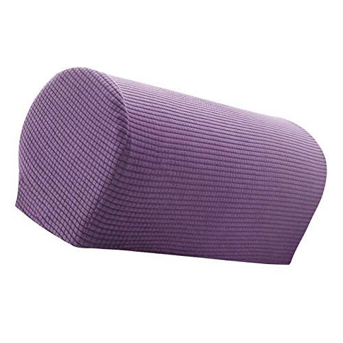 GAKIN Fundas antideslizantes para reposabrazos de sofá, forro polar, 2 unidades, color morado claro