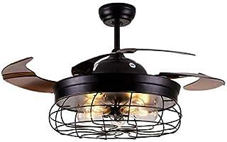 Ventilador de techo LED silencioso con iluminación y mando a distancia.