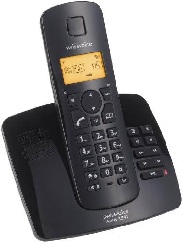 Swissvoice Aeris 134T Schnurloses Analog-Telefon (DECT) mit Anrufbeantworter inkl. ECO-Mode